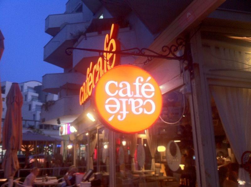 שלט מואר לקפה קפה